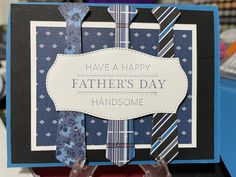 Fathers Day Cards, Happy Fathers Day, Suit And Tie, Masculine Cards, Creative Crafts, Stampin Up Cards, Cardmaking, Stamping, Scrapbooking