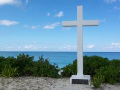 San Salvador, Bahamas! This cross is so much more beautiful in person. It marks the first place where Christopher Columbus landed :)