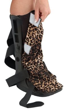 Make the best of a crappy situation. Made of stretch fabric eg lyrcra. Has a toe fitted slip over and rest velcros to sides Broken Foot, Broken Ankle Cast, Walking Cast, Walker Boots, Ankle Surgery, Boot Bling, My Life Style, Fashion Cover, Designer Boots