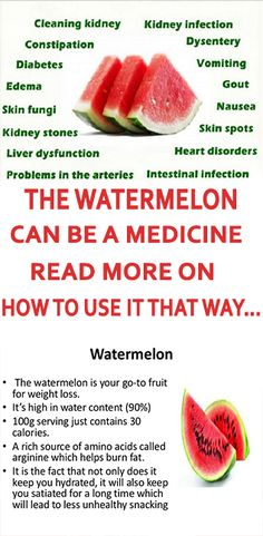 Watermelon can be a Medicine