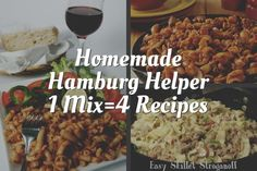 Create your Own Simple Homemade Hamburg Helper Mix Create your own homemade Hamburger Helper mix to have on hand for fast, delicious meals such as Quickie Lasagna, Beef Stroganoff, Chili Mac and more! Hamburger Helper Stroganoff, Hamburger Helper Recipes, Beef Stroganoff, Beef Recipes, Copycat Recipes, Pasta Recipes, Cheap Recipes, Budget Recipes