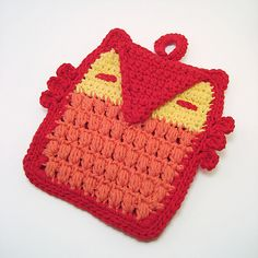 """Who cooks for you?"" Owl Potholder"