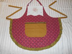 Upcycled Cross stitch Apron Vintage Tea Towel by ArtyApronsAndSuch, $36.00
