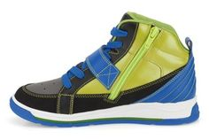 Boys Sports Shoes - Full Pulse Jnr in Lime Leather from Clarks shoes