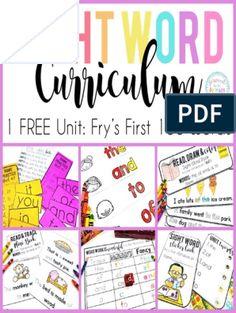 Fry's First 100 Sight Words Free Unit PTBP PDF   PDF