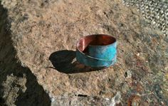 Handmade Abstract Distressed Verde Patina by MetalsByMelissa, $20.00 http://www.etsy.com/...