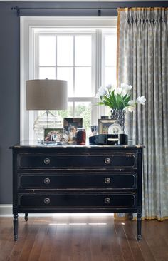 Beautifully styled chest of drawers