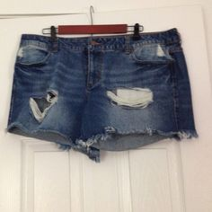 Distressed Jean Shorts Forever 21 Plus Size- Distressed Jean Shorts. Size 16. 4 in. inseam. Forever 21 Shorts Jean Shorts