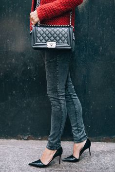 Damsel In Dior. -recreate with CAbi fall '13 Moto Jegging, designer top and Britt Jacket www.cabionline.com