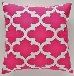 Candy Pink & White Morrocan Cushion Cover $25 Retro Cushions 50 x 50   Rubi Designs   madeit.com.au.