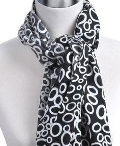 NEW Women's Black And White Animal Print Pashmina Scarf - LS3711 Dapper World. $14.99
