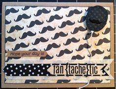 Mustache Card Mustache Cards, Moustache, Baby Boy Scrapbook, Masculine Cards, Card Designs, Mailbox, Small Gifts, Paper Crafting, Handmade Cards