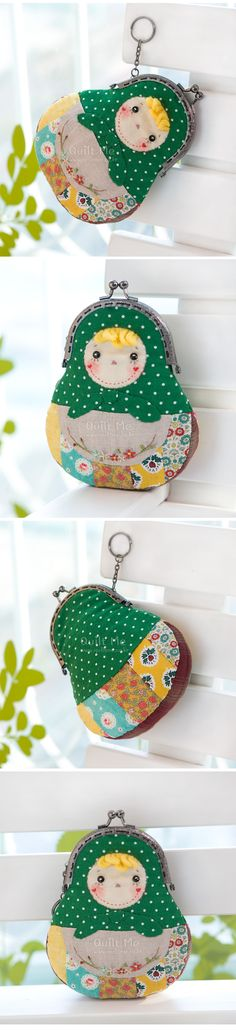 Monedero Coin Purse Wallet, Pouch Bag, Frame Purse, Quilted Bag, Fabric Bags, Sewing Toys, Vintage Purses, Handmade Bags, Fabric Crafts