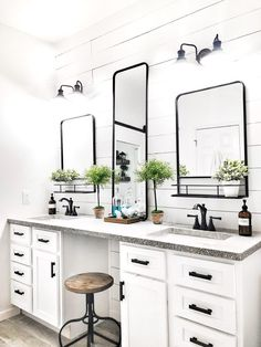 7 Master Bathroom Ideas for the Interior Designer in You - - You don't have to be a professional designer to create your dream master bathroom. Read on for 7 Master Bathroom Ideas for the Interior Designer in You. Bathroom Styling, Bathroom Interior Design, Master Bathroom Designs, Shiplap Master Bathroom, Small Master Bathroom Ideas, Master Bathroom Plans, Master Tub, Downstairs Bathroom, Small Bathrooms