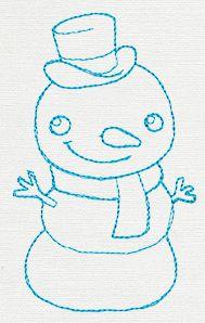 Christmas Friends Border - Frosty design (UT11224) from UrbanThreads.com