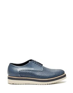 ALDON LACE-UP OXFORD IN WOVEN CALFSKIN LEATHER AND A SUPER LIGHT RUBBER SOLE - Shoes Man - Alberto Guardiani