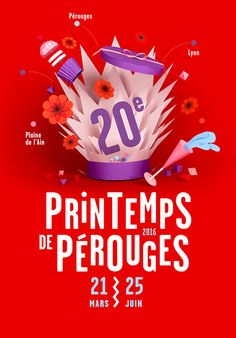 Paper objects and flowers for a poster /// paper illustration