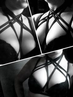 573b5bbdd4 Nightshade Cage bra harness adjustable top goth lingerie