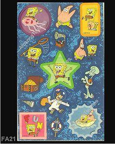 2 Sandylion Scrapbooking SpongeBob Squarepants Stickers FA-21