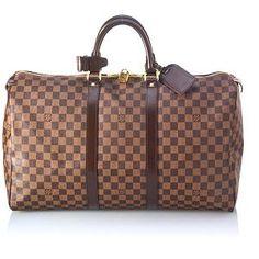 58aa30fa49df Louis Vuitton Damier Canvas Keepall 50 Luggage Louis Vuitton Keepall
