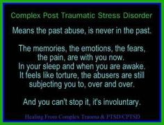 Complex PTSD, means the past, is never in the past. | Healing From Complex Trauma & PTSD/CPTSD