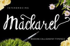Mackarel is brush script font, fantastic and unique.