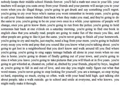 Just read it. It's so true and great and wonderful.