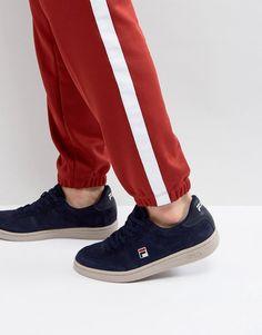 Fila Suede Portland Low Sneakers in Navy - Navy