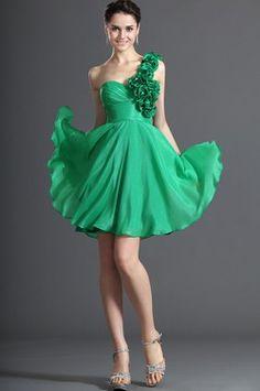 eDressit Simple Solo Hombro Verde Vestido de Coctal Vestido de Fiesta Corto (04122604)