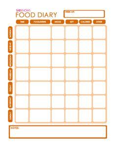 free printable food diary