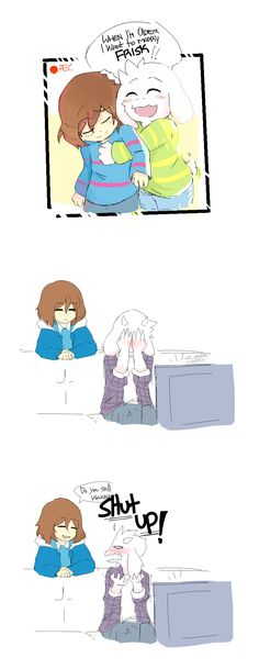 Undertale Frisk and Asriel