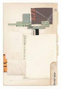 "110611: Tao 2 | 4 x 7"" book parts, glue, on paper SOLD asg | Melinda Tidwell | Flickr"