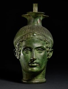 Bronze vase in the form of a man's head, III century, BCE. Now in the British Museum - Dai segreti di Holkham Hall alle meraviglie del British Museum Roman History, Art History, Ancient Rome, Ancient History, Collections D'objets, Art Rupestre, 17th Century Art, Roman Art, Greek Art