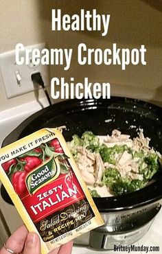 Britney Munday: Healthy Creamy Crockpot Chicken (only four ingredients!)