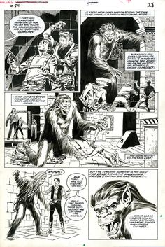 Star Wars #50, page 28. Marvel Comics, 1981. Pencils by Al Williamson. Inks by Tom Palmer.