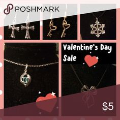 Valentine's Day Jewelry Sale Valentines Day Jewelry Sale!! All Jewelry on sale NOW!!!! But it NOW Super cheap! Bundle to save on shipping!!! Nothing over $8!!!! Jewelry Necklaces