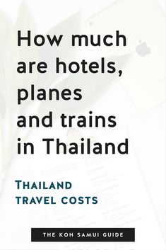 Thailand Travel Costs: How Much Are Hotels, Ferries, Planes and Trains? Taking current data from hotel and ticketing sites Booking.com and 12Go Asia for every corner of Thailand (Bangkok, Chiang Mai, Chiang Rai and Pai in the north, plus all the 'Kohs' (islands) – Chang, Kood, Lanta, Mak, Phangan, Phi Phi, Samui, Tao, Yao Noi and Yao Yoi) a better picture emerged of Thailand's hotel costs specifically and its travel costs more generally. Bangkok Shopping, Bangkok Hotel, Bangkok Travel, Asia Travel, Singapore Travel Tips, Thailand Travel Tips, Phuket Airport, Chiang Rai, Best Hotel Deals