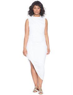 Asymmetrical Drape Dress from eloquii.com