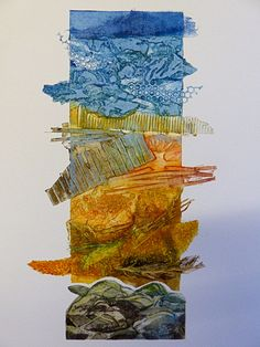 Beachcomber Collagraph by SallyWinterEtchings on Etsy