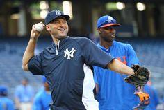 Latroy hawkins and derek jeter #mets #Yankees