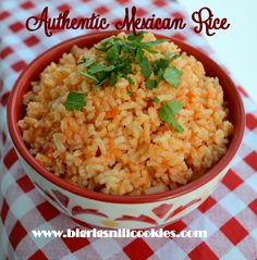 Big Rigs 'n Lil' Cookies:         Authentic Mexican   Rice