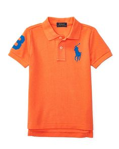 Cotton Mesh Polo Shirt - Boys 2-7 Short Sleeve - RalphLauren.com