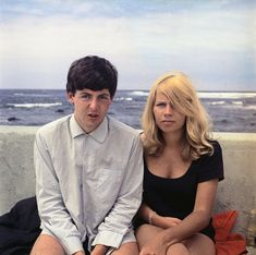 ♡♥Paul with Astrid Kirchherr in Tenerife in the Canary Islands in 1963 - click on pic to see a full screen pic in a better looking black background♥♡