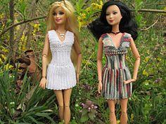 Ravelry: Ribbed V-Neck Barbie Dress pattern by Vicki Johnson
