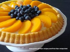 Try German Fruit Flan Recipe ~ Obsttorte! You'll just need For the crust:, 150 g slightly-rounded cup) unbleached white flour, 90 g Fruit Flan Recipe, Recipe 4, German Desserts, German Recipes, Irish Recipes, Chocolate Caramel Tart, Chocolate Art, Delicious Chocolate, Cake Recipes