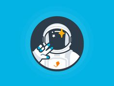 Astronaut by Gabrielle #Design Popular #Dribbble #shots