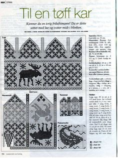 Knit Moose mittens and Hat charts