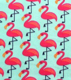 Blizzard Fleece Fabric-Katies Flamingo