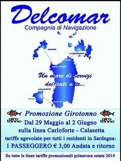 PROMOZIONE GIROTONNO 2014: IL TRAGHETTO COSTA SOLO 3 €