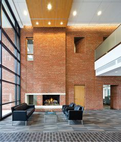 Interior of Triangle Brick Headquarters in Durham, North Carolina USA by Pearce Brinkley Cease & Lee